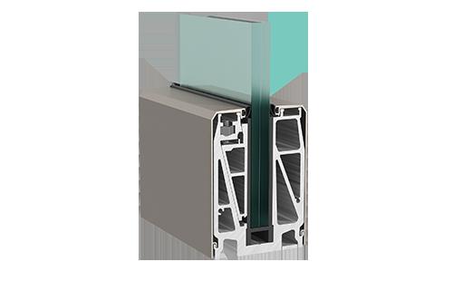 Crystalline Railing System - Σύστημα επιδαπέδιας στήριξης υαλοπίνακα.