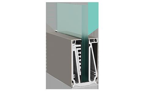 Crystalline Railing System - Ενιαίο σύστημα επιδαπέδιας στήριξης υαλοπίνακα.