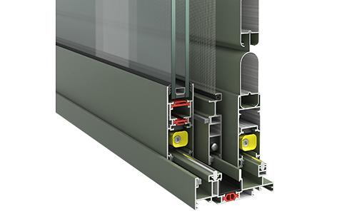 Ιδανική λύση αντικατάστασης με τριπλό οδηγό τζάμι - σήτα- πατζούρι πλάτους 98,5mm και ύψος 32mm.