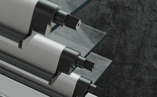 Πλαστική τάπα που επιτρέπει την αρμονική αξονική περιστροφή έως 90° του φύλλου.