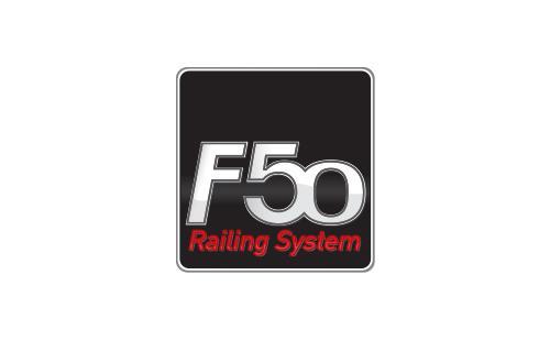 Το εμπορικό κατοχυρωμένο σήμα της σειράς καγκέλων F50 της ALUMINCO